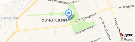 Каролина на карте Бачатского