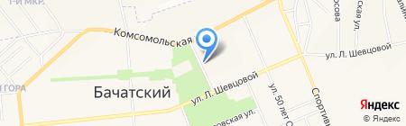 Цветочный рай на карте Бачатского