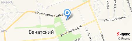 Олимпиец на карте Бачатского