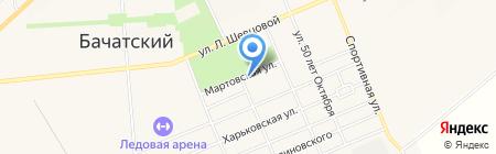 Зорюшка на карте Бачатского