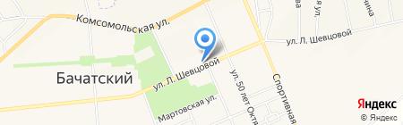 Тавифа на карте Бачатского
