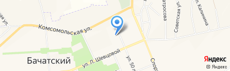 Детский сад №42 на карте Бачатского