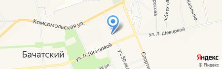 Росинка на карте Бачатского