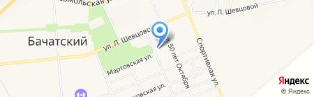 Детский сад №64 Золотой ключик на карте Бачатского