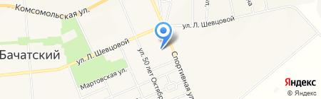 Столовая на Спортивной на карте Бачатского