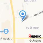 Зеленый лист на карте Кемерово