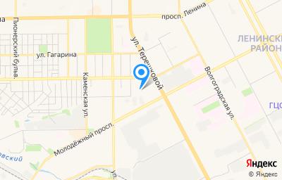 Местоположение на карте пункта техосмотра по адресу г Кемерово, ул Мирная, д 9А