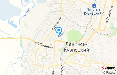 Местоположение на карте пункта техосмотра по адресу Кемеровская область - Кузбасс, г Ленинск-Кузнецкий, ул Горького, д 34