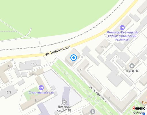 Товарищество собственников жилья «НАШ ДОМ» на карте Ленинск-Кузнецкого