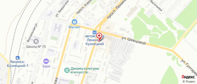 Карта расположения пункта доставки Westfalika в городе Ленинск-Кузнецкий
