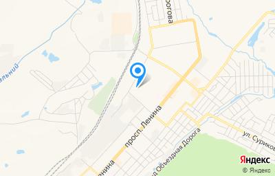 Местоположение на карте пункта техосмотра по адресу Кемеровская область - Кузбасс, г Ленинск-Кузнецкий, ул Шакурина, д 4