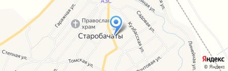 Пекарня на карте Старобачатов
