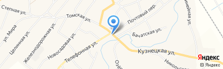 Вираж на карте Старобачатов