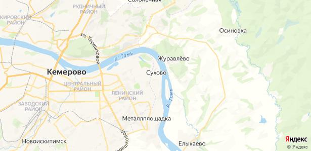 Сухово на карте