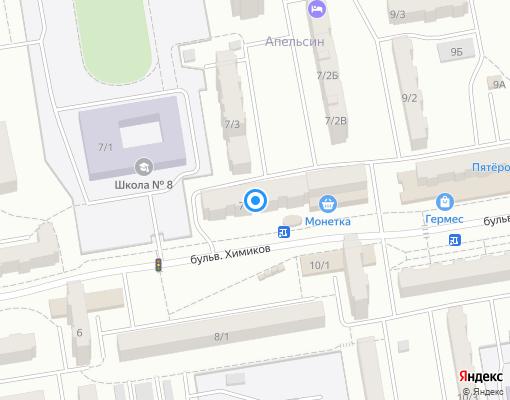 Управляющая компания «Апельсин» на карте Ленинск-Кузнецкого