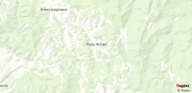 Урлу-Аспак на карте