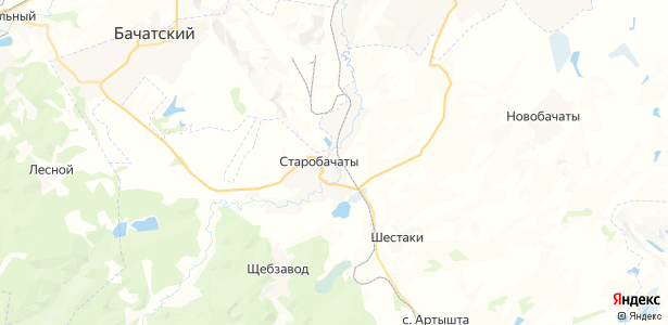 Старобачаты на карте