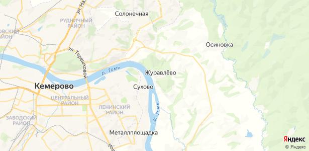 Журавлево на карте
