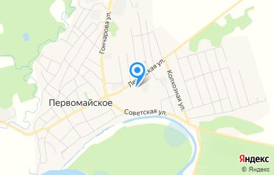 Местоположение на карте пункта техосмотра по адресу Томская обл, с Первомайское, ул Ленинская, д 95 стр 5