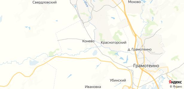 Конево на карте