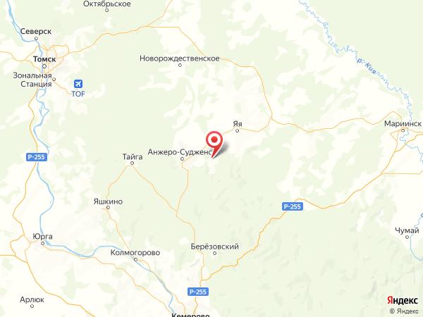 поселок городского типа Рудничный на карте
