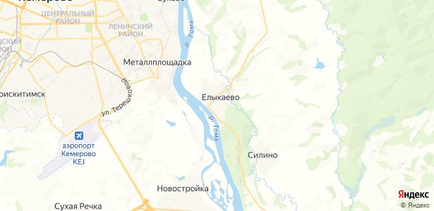 Елыкаево на карте