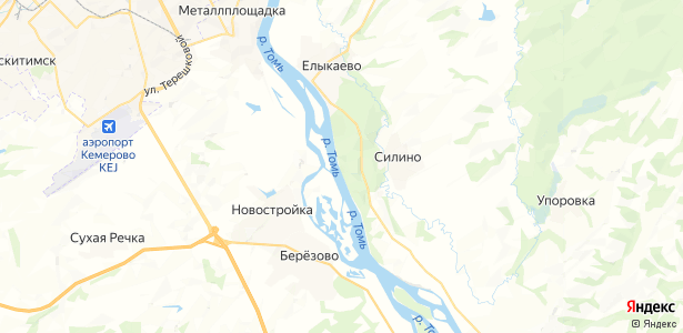 Силино на карте