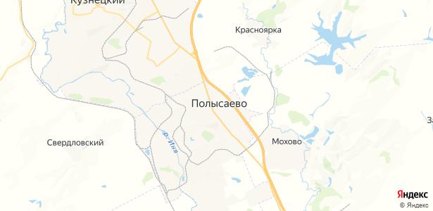 Полысаево на карте