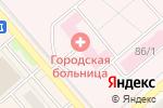 Схема проезда до компании Центральная городская больница в Полысаево