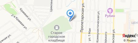 МУП по оказанию ритуальных услуг на карте Белово