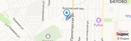 Беловское на карте Белово