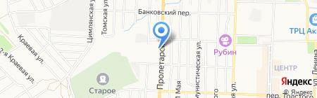 Шиномонтажная мастерская на Пролетарской на карте Белово