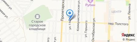 Шиномонтажная мастерская на ул. 1 Мая на карте Белово