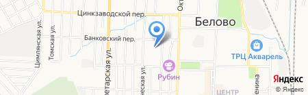 Беловское жилищное управление на карте Белово