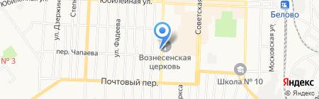 Шиномонтажная мастерская на Октябрьской на карте Белово