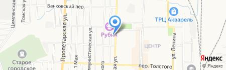 Тигрёнок на карте Белово