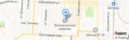 Ритуальное агентство на Октябрьской на карте Белово