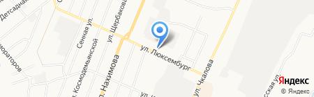 Шиномонтажная мастерская на ул. Люксембург на карте Белово