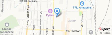 Беловские зори на карте Белово