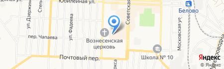 Магазин мужской одежды на карте Белово
