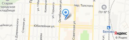 Детский сад №43 Снежинка на карте Белово