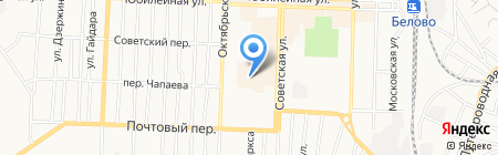 Московская ярмарка на карте Белово