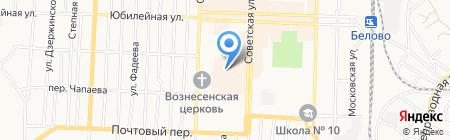 Киоск фастфудной продукции на карте Белово