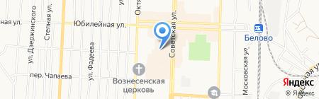 Новосибирская птицефабрика-Кузбасс на карте Белово