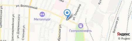 Промышленник на карте Белово