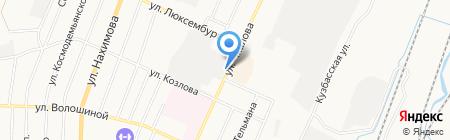 Магазин бытовой химии на ул. Чкалова на карте Белово
