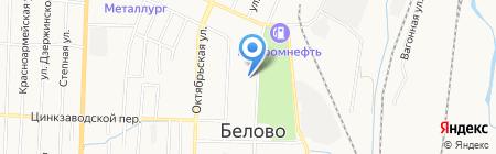 Магазин цветов на Советской на карте Белово