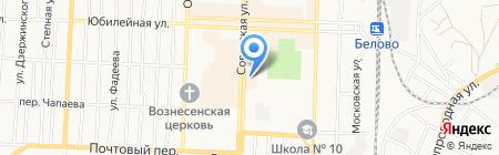 КОРОНА на карте Белово