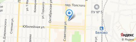 Банкомат АКБ Росбанк ПАО на карте Белово