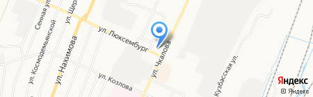 3 отряд ФПС по Кемеровской области на карте Белово